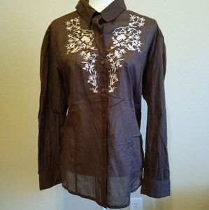 Cumberland Outfitters Embroidery Button Shirt 1X